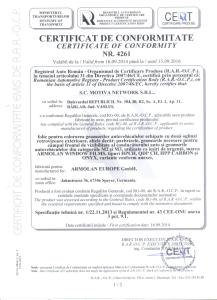 Certificat 4261-Folii auto Armolan 1